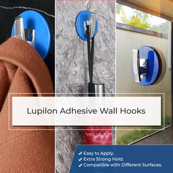 Iupilon Adhesive Wall Hooks – Blue 600x600 - Iupilon Adhesive Wall Hooks – Blue