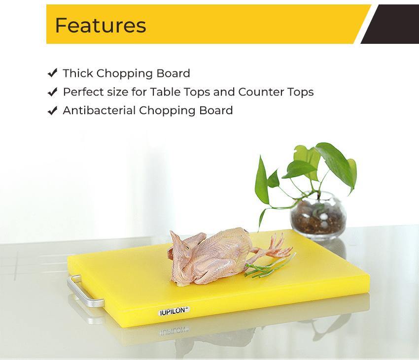 cutting boardfeatures - Iupilon Non Slip, Plastic Cutting Board